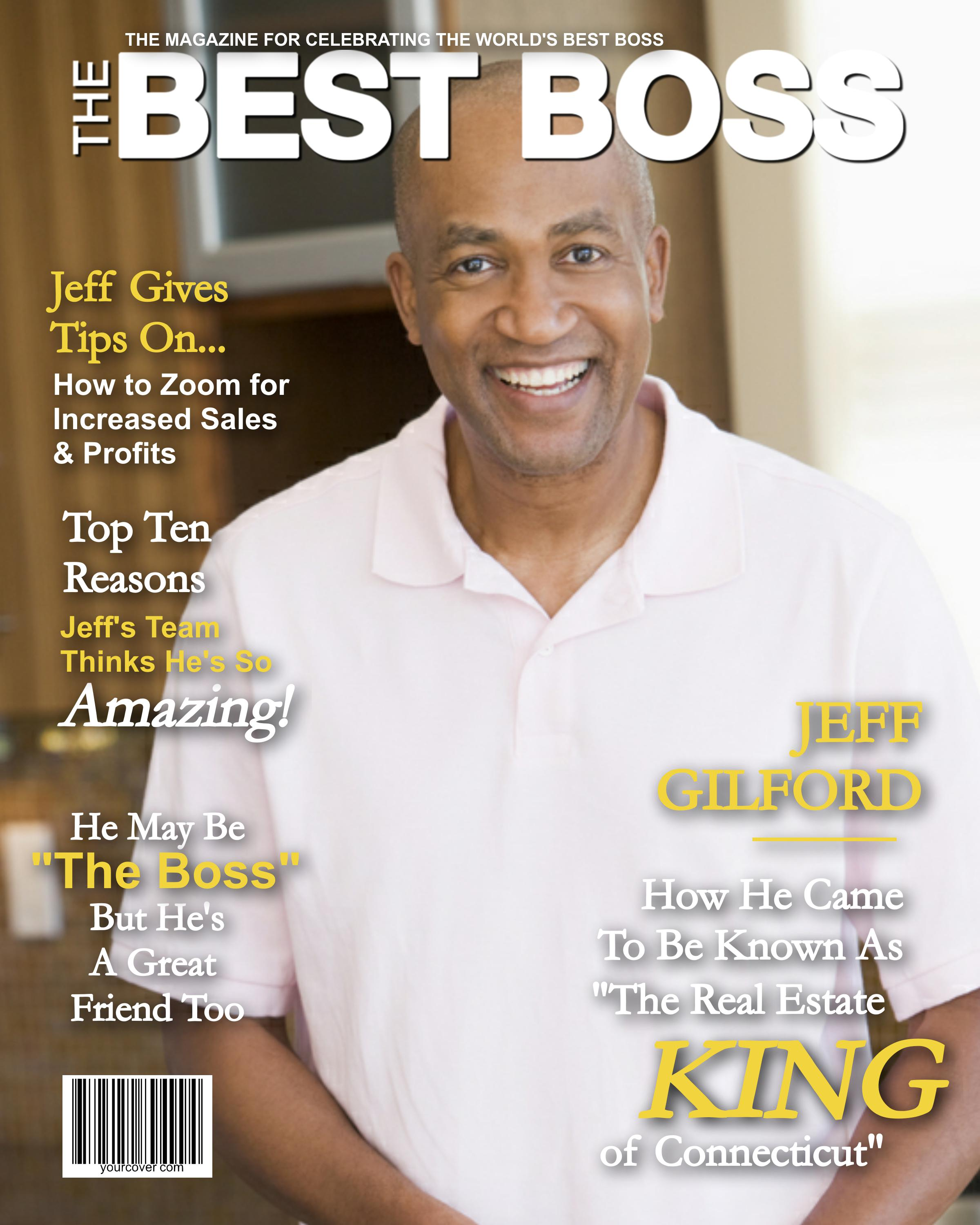 Best Boss Magazine Cover Template