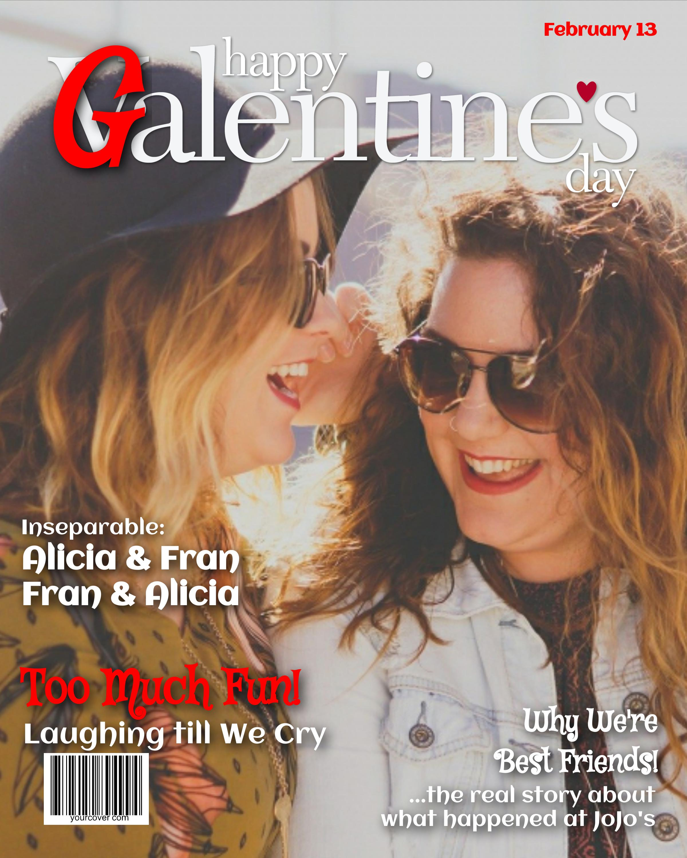 Galentine's Day Magazine Cover