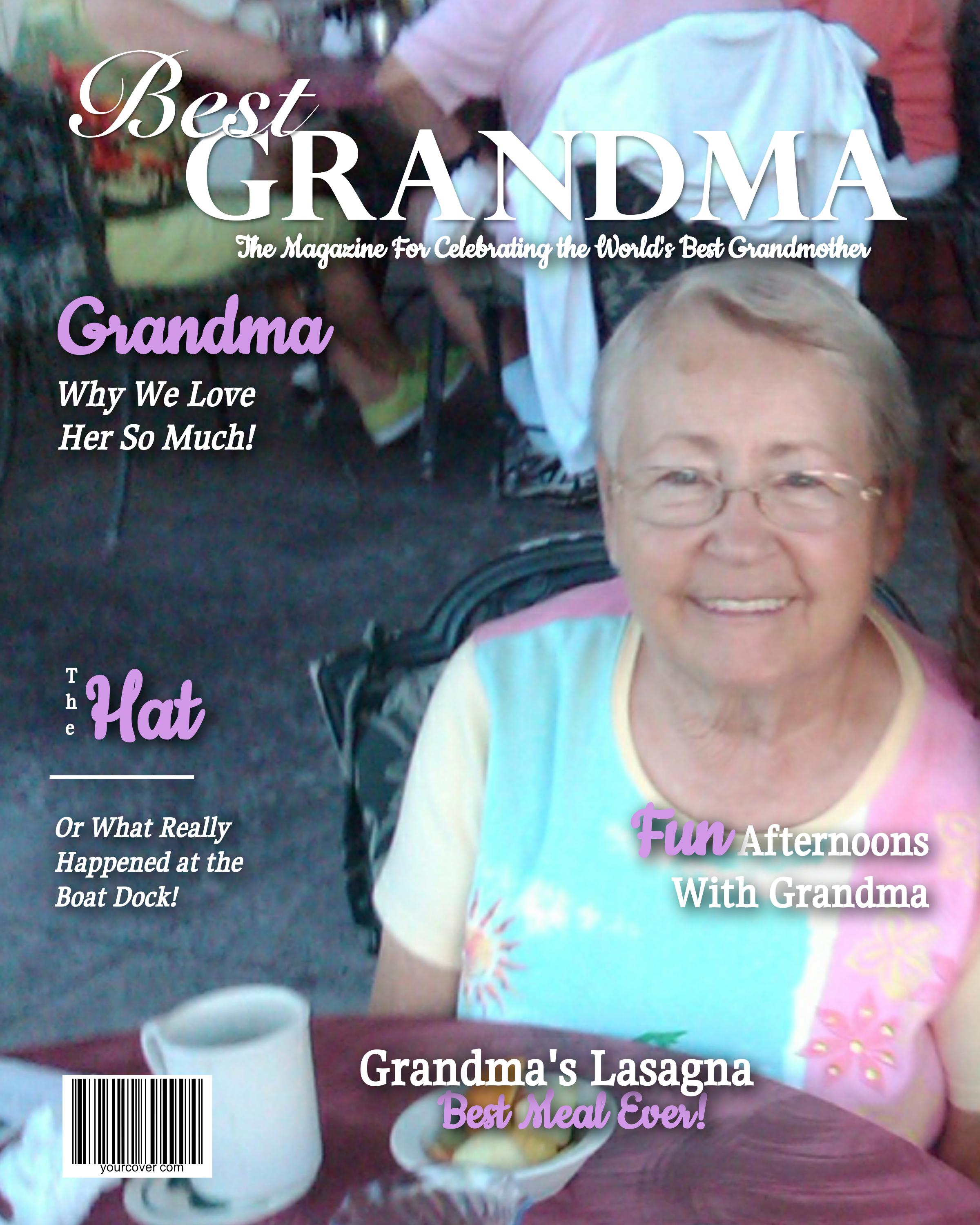 Best Grandma Magazine Cover Template
