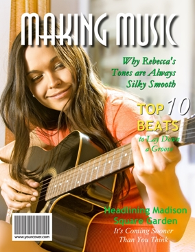 Making music yourcover for Custom magazine cover templates