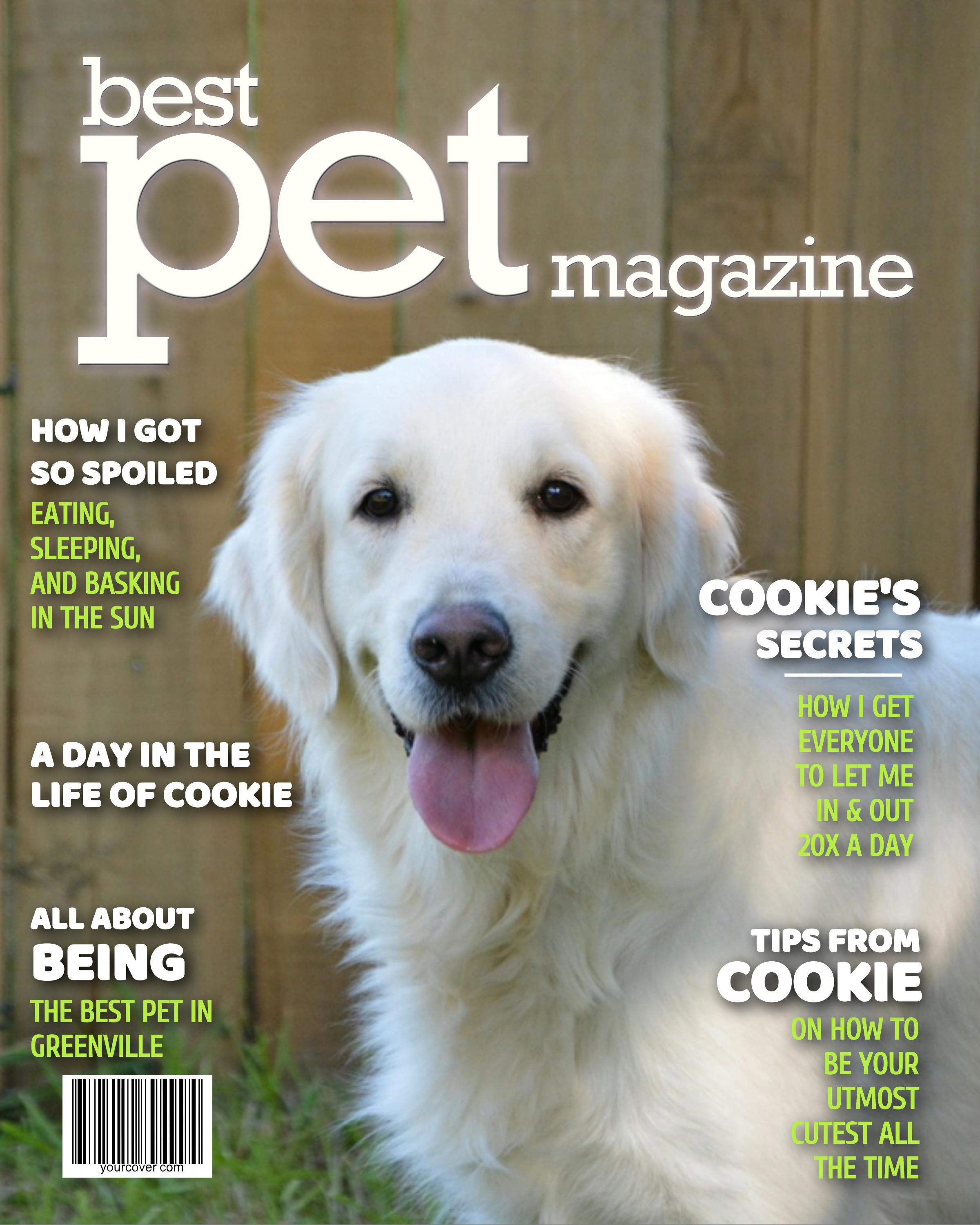 Personalized Best Pet Magazine Cover