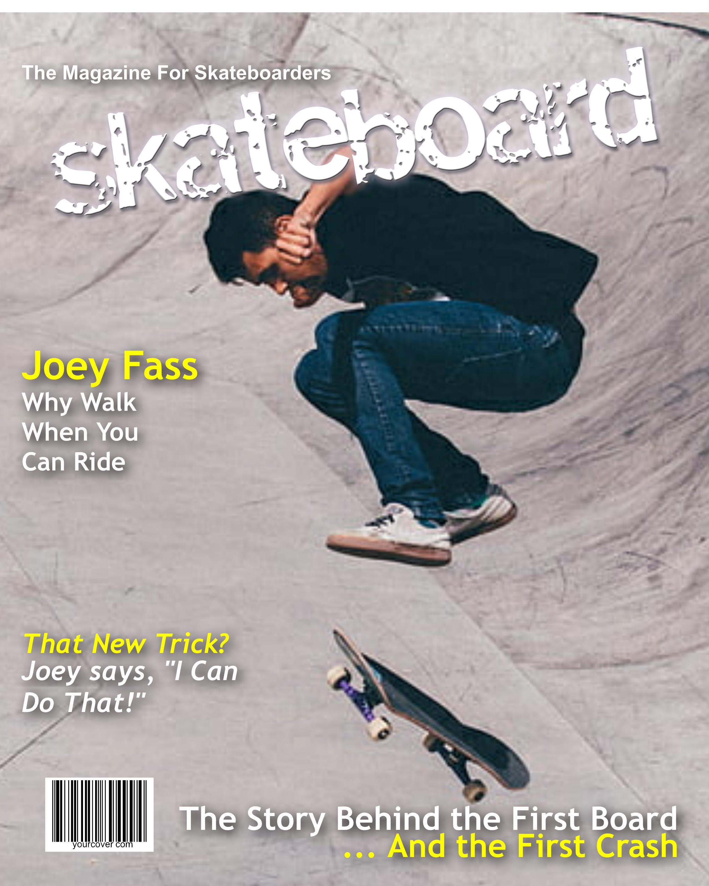 Personalized Skateboard Magazine Cover