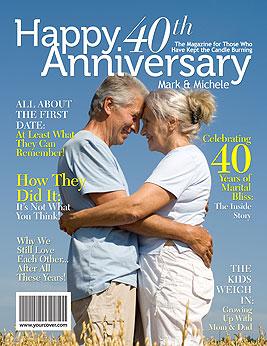 40th Wedding Anniversary Gift Anniversary Print By Perkypaper On