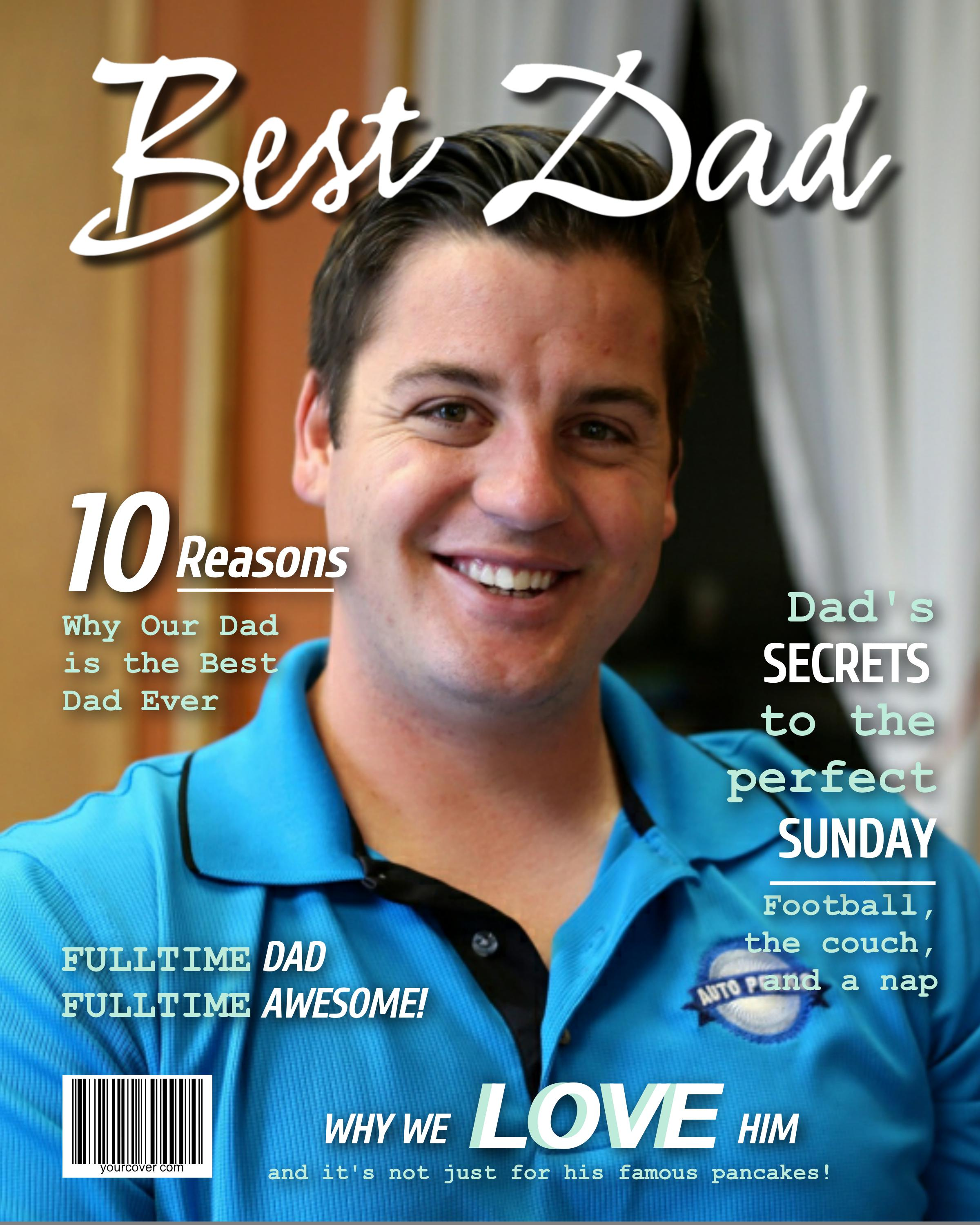 Personalize Best Dad Magazine Cover