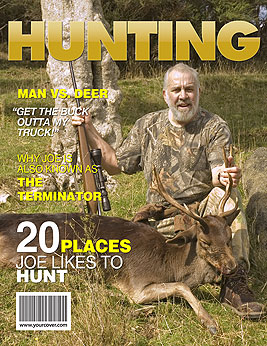 custom magazine cover templates - hunting yourcover