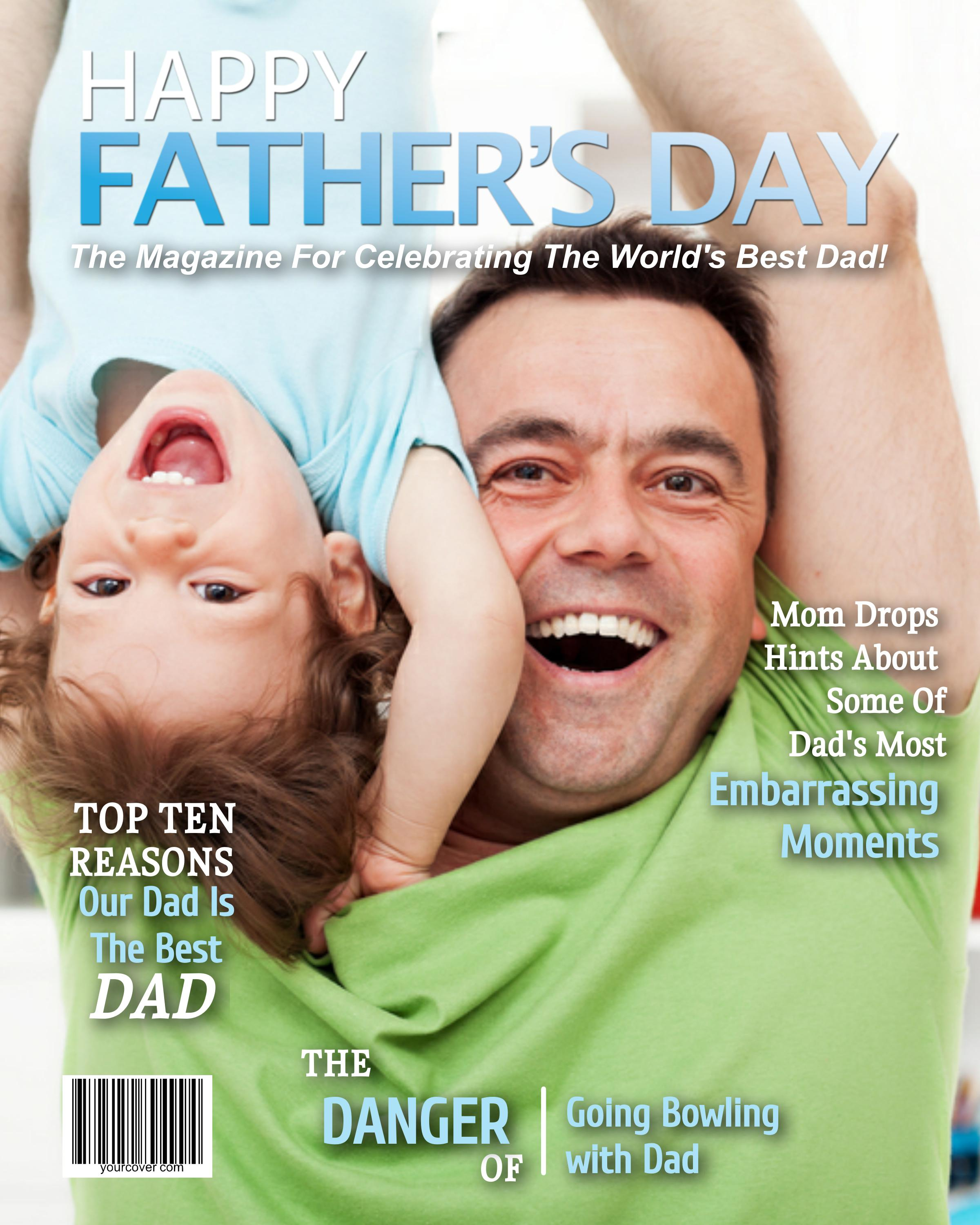 Personalized Father's Day Magazine Cover