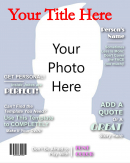 Make Your Own Title Blank Magazine Cover Template