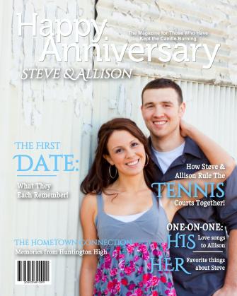 Personalized Anniversary Magazine Cover