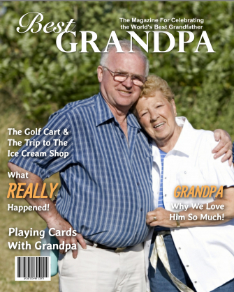 Personalized Best Grandpa Magazine Cover