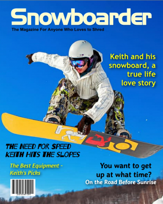 Snowboarder Personalized Magazine Cover